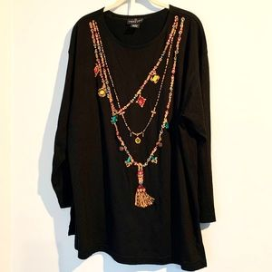 HOLIDAY WOMENS 1X TUNIC TOP